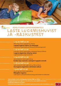 2015 koolitused Lastekirjanduse keskuses